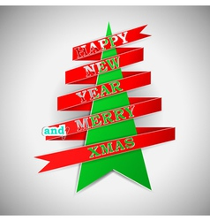 Happy New Year and Merry XMas vector image vector image