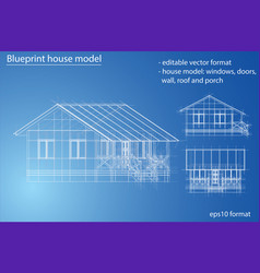 house wireframe structure vector image