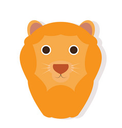 Isolated lion face vector