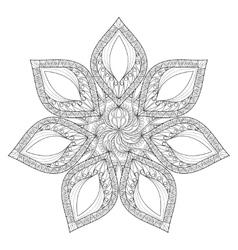 Mandala Hand drawn zentangle mandala vector image vector image
