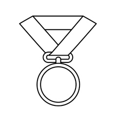 Medal award isolated icon vector