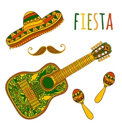 mexican fiesta party vector image vector image