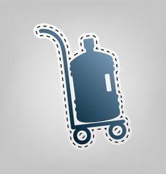 Plastic bottle silhouette with water big bottle vector