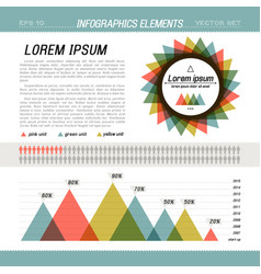 Presentation template infographic vector