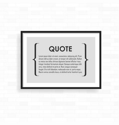 realistic frame on light grunge brick wall vector image vector image