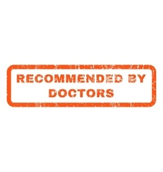 Recommended by doctors rubber stamp vector