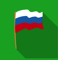 Russian flag icon in flat style isolated on white vector