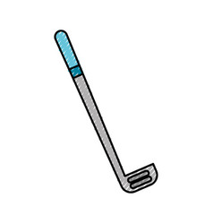 Scribble grey golf club cartoon vector