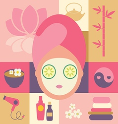 Spa and beauty- face vector