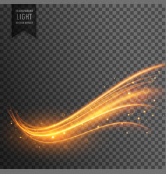 Stylish transparent light effect in wavy shape vector