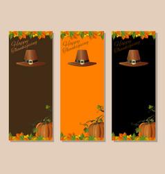 Thanksgiving banners set vector
