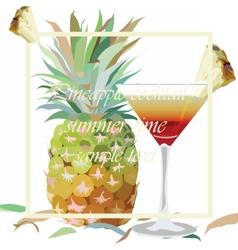 Watercolor Pineapple and Cosmopolitan vector image vector image