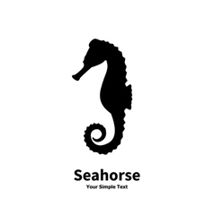 Silhouette of a sea horse vector
