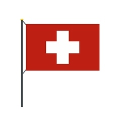 Flag of switzerland icon flat style vector