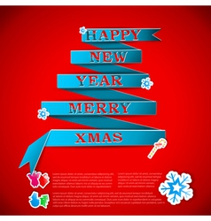 Merry xmas greeting card vector