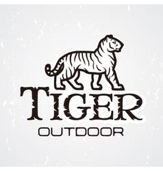 Tiger logo mascot design template shop or vector