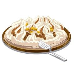 Ice cream tart vector