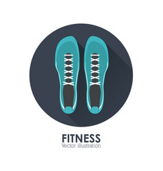 Fitness design gym icon flat vector