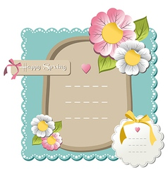 Happy spring sale tag collection vector