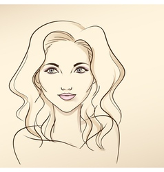 Portrait of woman in pastel tones3 vector