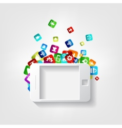 Smartphone icon Tablet symbolApplication button vector image