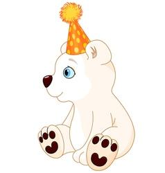Polar bear celebrating vector