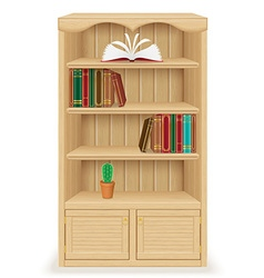 Bookcase 02 vector