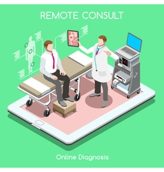 Remote Doctor 01 People Isometric vector image