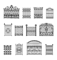 Decorative fences set vector
