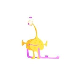 One-eyed yellow childish monster vector