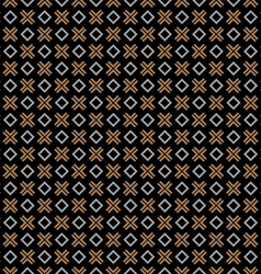 Checkered black seamless pattern with cross and vector image