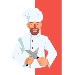 Chef with Knives vector image