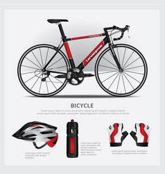 bicycle with accessory vector image