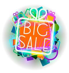 big sale colorful emblem vector image vector image