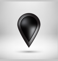Black bubble map pointer badge vector