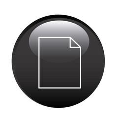 Black circular frame with paper sheet icon vector