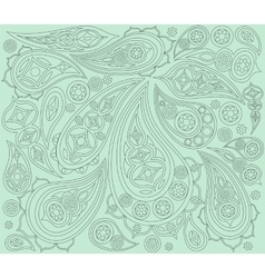 Black mint indian pattern arabic ornament vector