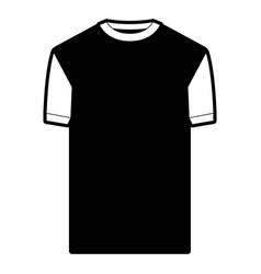 black sections silhouette of t-shirt man vector image vector image
