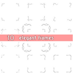 Bunch of square frames design templates vector