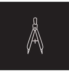 Compass sketch icon vector image vector image