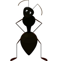 Cute ant cartoon character vector