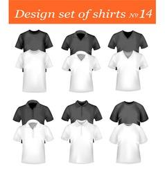 design shirt set 14 vector image vector image