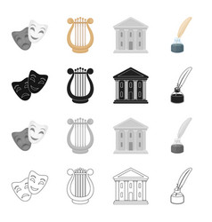 Drama comedy theater and other web icon in vector