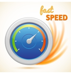Fast speed symbol speedometer isolated vector
