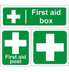 First aid signs vector image vector image