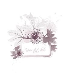 Floral frame with splash vector