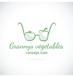 Grannys vegetables concept symbol icon vector