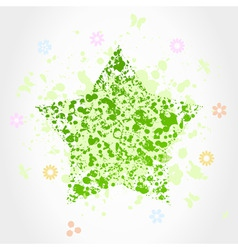 Green star vector