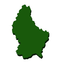 Map of luxembourg vector