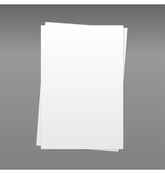 Paper Rectangle Banner Mock Up A4 vector image vector image